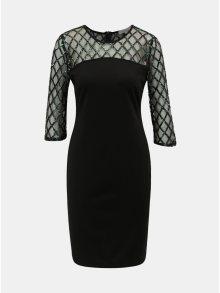 Černé pouzdrové šaty s flitry Dorothy Perkins Petite