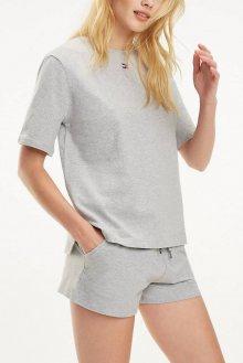 Tommy Hilfiger světle šedé oversize tričko BN TEE HALF - XS