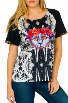 Culito from Spain černo-bílé tričko Lady Cat - XS