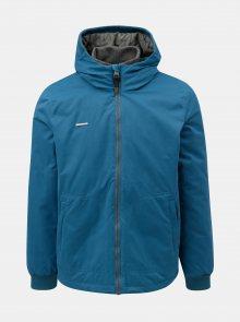 Modrá pánská zimní bunda s kapucí Ragwear