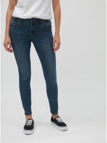 Modré slim džíny s vyšisovaným efektem VERO MODA Seven