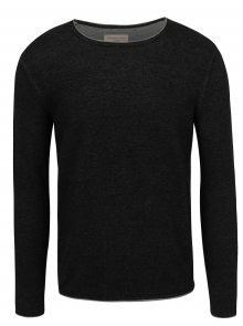 Tmavě šedý žíhaný svetr Selected Homme Klop