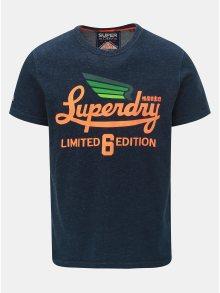 Tmavě modré pánské tričko s potiskem Superdry Limited Icarus