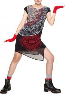 Desigual černé šaty s mandalami Babilon  - 36