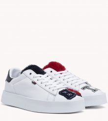 Tommy Hilfiger bílé kožené tenisky Fun Retro Light Sneaker - 38