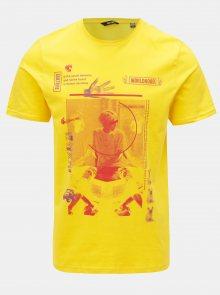 Žluté tričko s potiskem ONLY & SONS