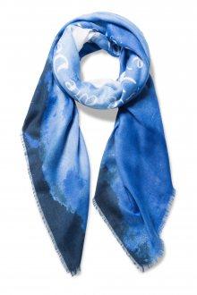 Desigual modrý šátek Heart