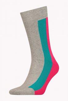 Tommy Hilfiger barevné pánské ponožky Stripe Grey - 43-46