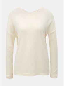 Krémový lehký svetr s mašlí za krkem ONLY Star