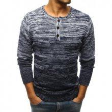 Pánský svetr tmavě modrý STYLE s knoflíčky