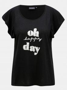 Černé dámské tričko s krátkým rukávem Broadway Gwen