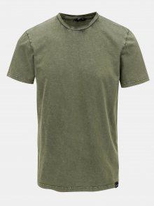 Khaki basic tričko ONLY & SONS Dacid