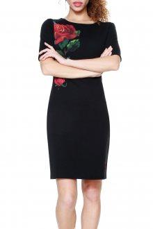 Desigual černé šaty Helga  - S