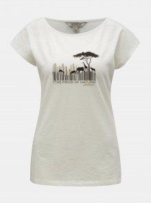 Krémové dámské tričko s potiskem BUSHMAN Fredonia