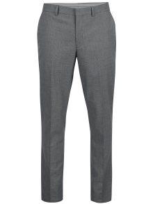 Šedé vzorované kalhoty Selected Homme Slim