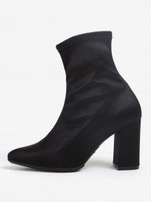 Černé kotníkové boty na podpatku OJJU