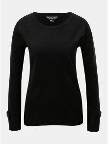 Černý lehký svetr s mašlí na rukávech Dorothy Perkins