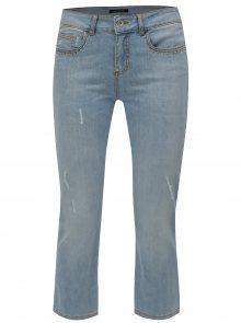 Světle modré zkrácené straight džíny s nízkým pasem Fornarina Tya