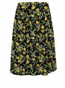 Žluto-černá vzorovaná sukně Fever London Lemon