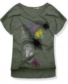 Khaki tričko 7318-3