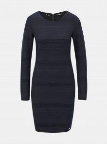 Tmavě modré pouzdrové šaty Superdry