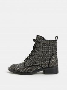 Černé dámské kotníkové boty s třpytivou aplikací ALDO Galolila