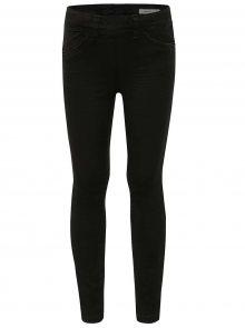 Černé holčičí skinny džíny s ozdobným zipem na zadní straně name it Tenne