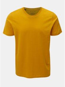 Žluté basic tričko s krátkým rukávem Selected Homme Perfect