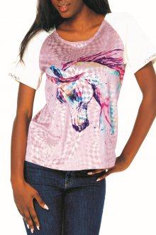 Culito from Spain sametové barevné tričko Unicorno - S