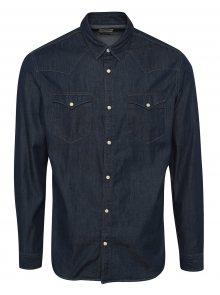 Tmavě modrá džínová slim fit košile Selected Homme One Ned