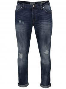 Modré džíny s potrhaným efektem ONLY & SONS Loom