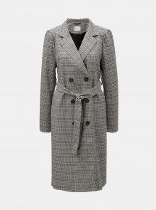 Šedý vzorovaný kabát VILA Viandy
