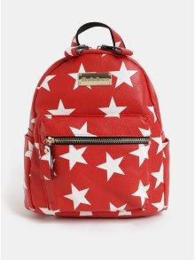 Bílo-červený batoh s motivem hvězd Claudia Canova Starlight