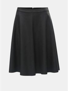 Černá koženková sukně ONLY Amber