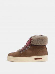 Dámské kožené kotníkové zimní boty GANT