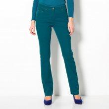 Blancheporte Strečové rovné kalhoty tyrkysová 36
