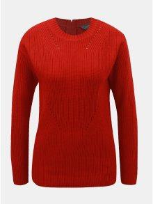 Červený svetr se zipem na zádech Dorothy Perkins Tall