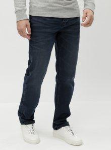 Tmavě modré straight džíny Burton Menswear London Overdye