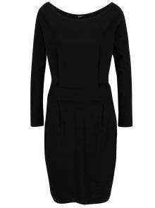 Černé pouzdrové šaty s kapsami a dlouhým rukávem ZOOT