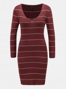 Vínové vzorované svetrové šaty ONLY Galanty