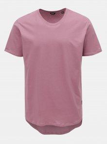 Starorůžové dlouhé basic tričko ONLY & SONS Matt