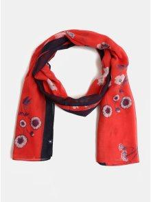 e90b0949a47 Modro-červený dámský květovaný šátek Tom Joule