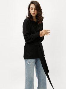 Černá dlouhá mikina s páskem Jacqueline de Yong