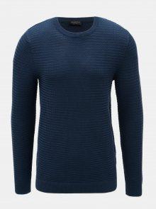 Modrý svetr z Merino vlny Selected Homme