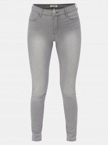 Šedé super skinny džíny s vyšisovaným efektem Dorothy Perkins Frankie