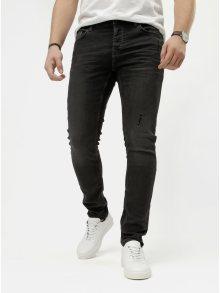 Tmavě šedé slim džíny ONLY & SONS Spun