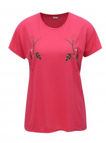 Růžové tričko s potiskem Jacqueline de Yong Nixon