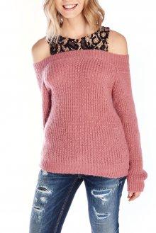 Fornarina růžový svetr Bill - XS