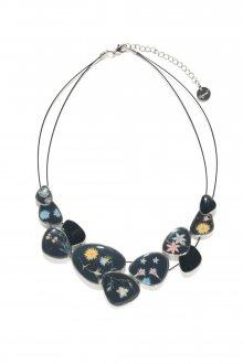 Desigual černý náhrdelník Romantic Flowers Chapas