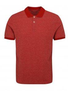 Červené polo tričko Selected Homme Slub